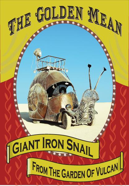 Snail Art Car The Golden Mean