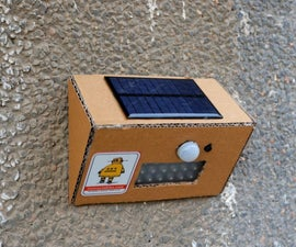 DIY Solar Motion Sensor LED Light