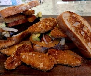 Quick Guilty Free Veggies Sandwich