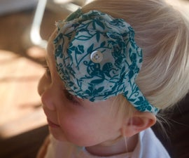 Easy Flower Headband for Little Girl