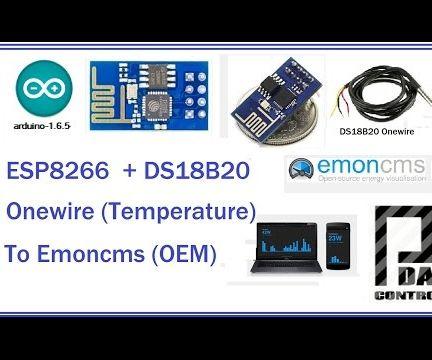 Esp8266 + Sensor  Temperarture DS18B20 to Emoncms