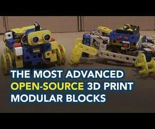 最先进的开源3D打印模块化模块块