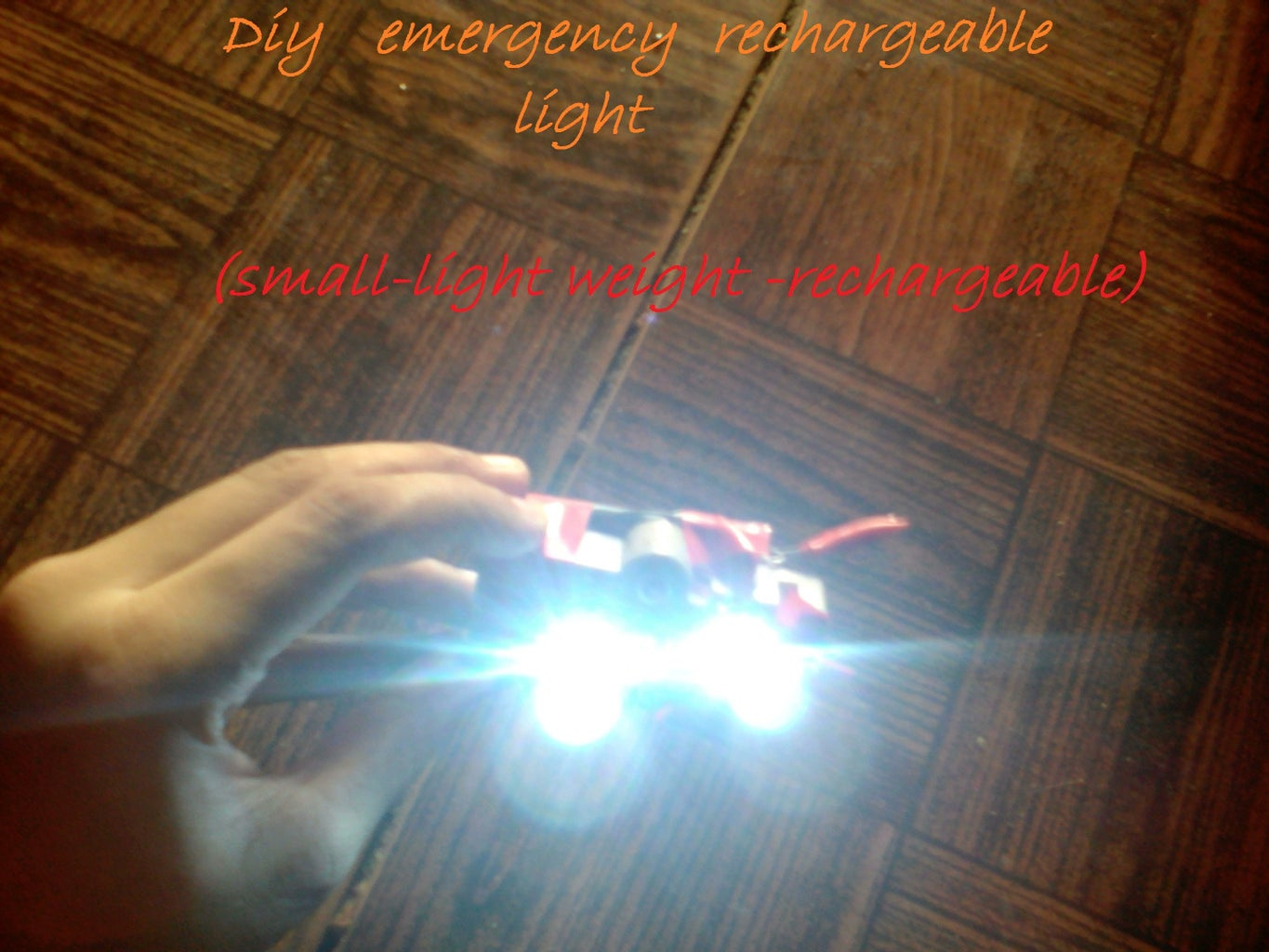 DIY Emergency Rechargeable Light