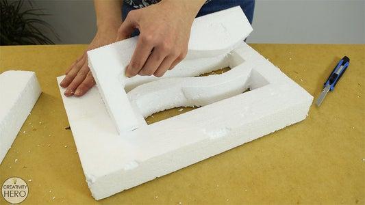 Making the Styrofoam Mold.