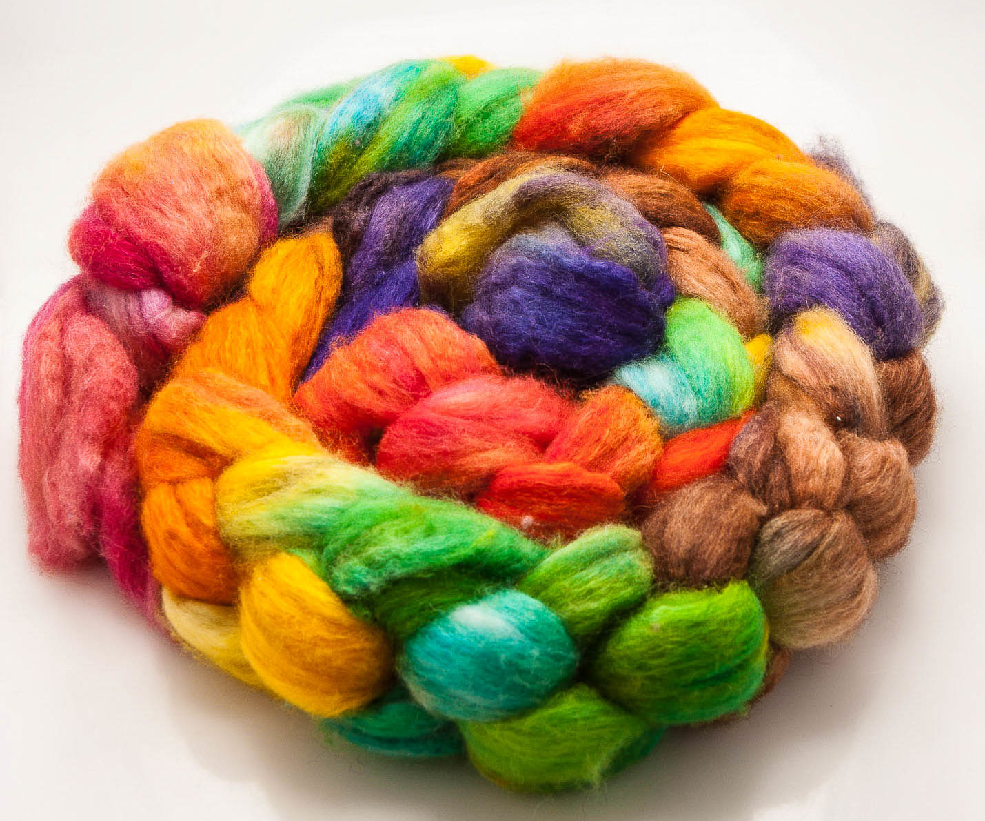 Hand Painting Wool Tops/Roving