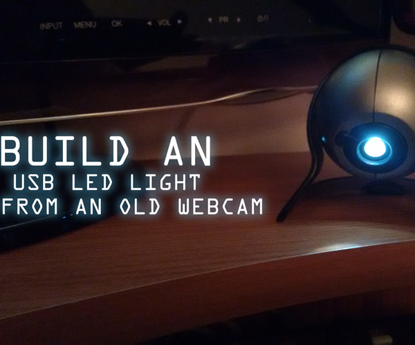 Build an USB LED Light From an Old Webcam