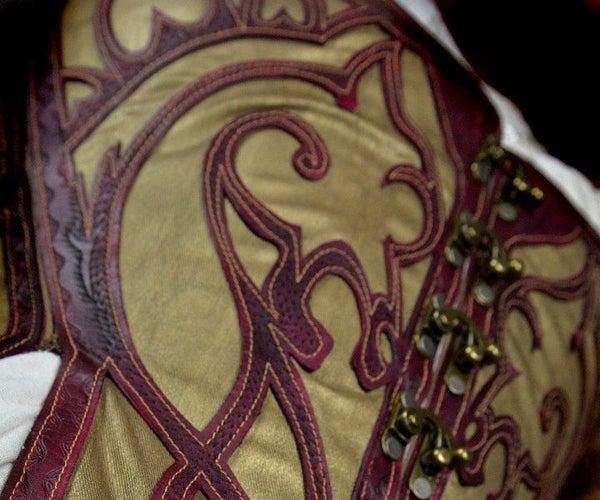 Leather Lattice Corset
