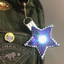 Light-Up Backpack Charm - Star