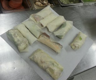 Quick Easy Pizza / Spring Roll Hybrid
