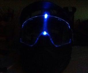 DIY Light Up Paintball Mask