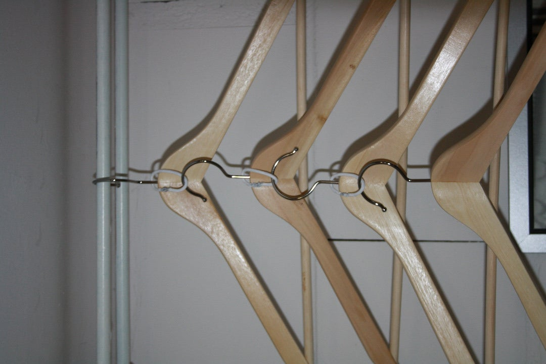 Small Closet Solution - Hangers Without Can Tabs -