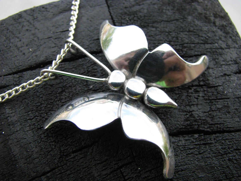 Steel Butterfly Pendant