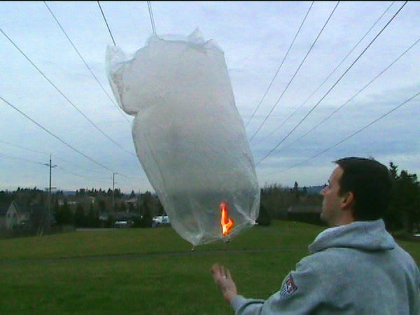 Sky Lantern/Hot Air Balloon From a Dry Cleaner Bag