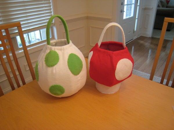 Yoshi Egg and Super Mushroom Baskets