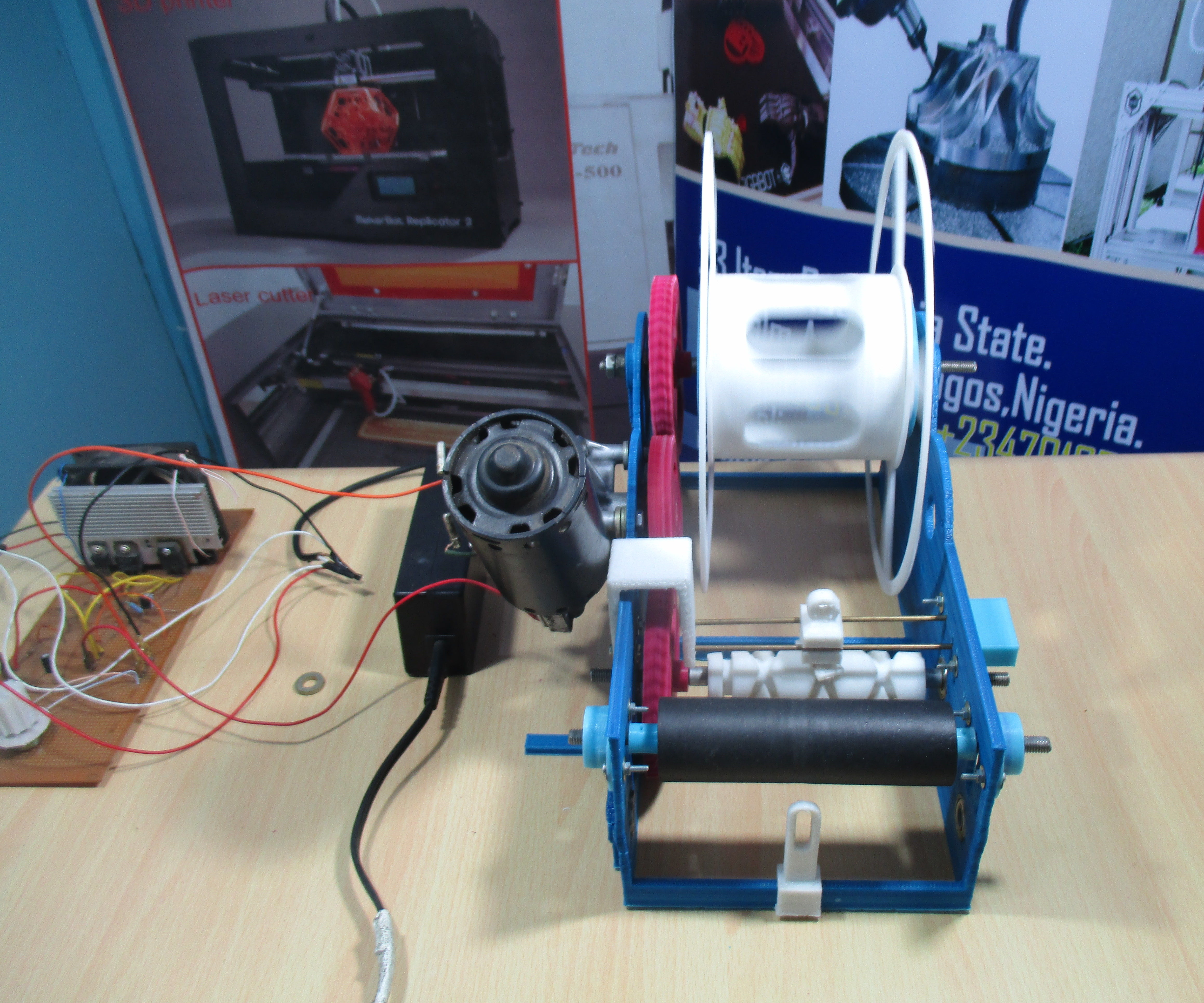 Compact Spooling Machine
