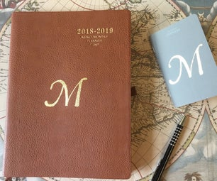 A Golden Year - Stencil Gilding a Planner With Miniatum Flexible Gold Size