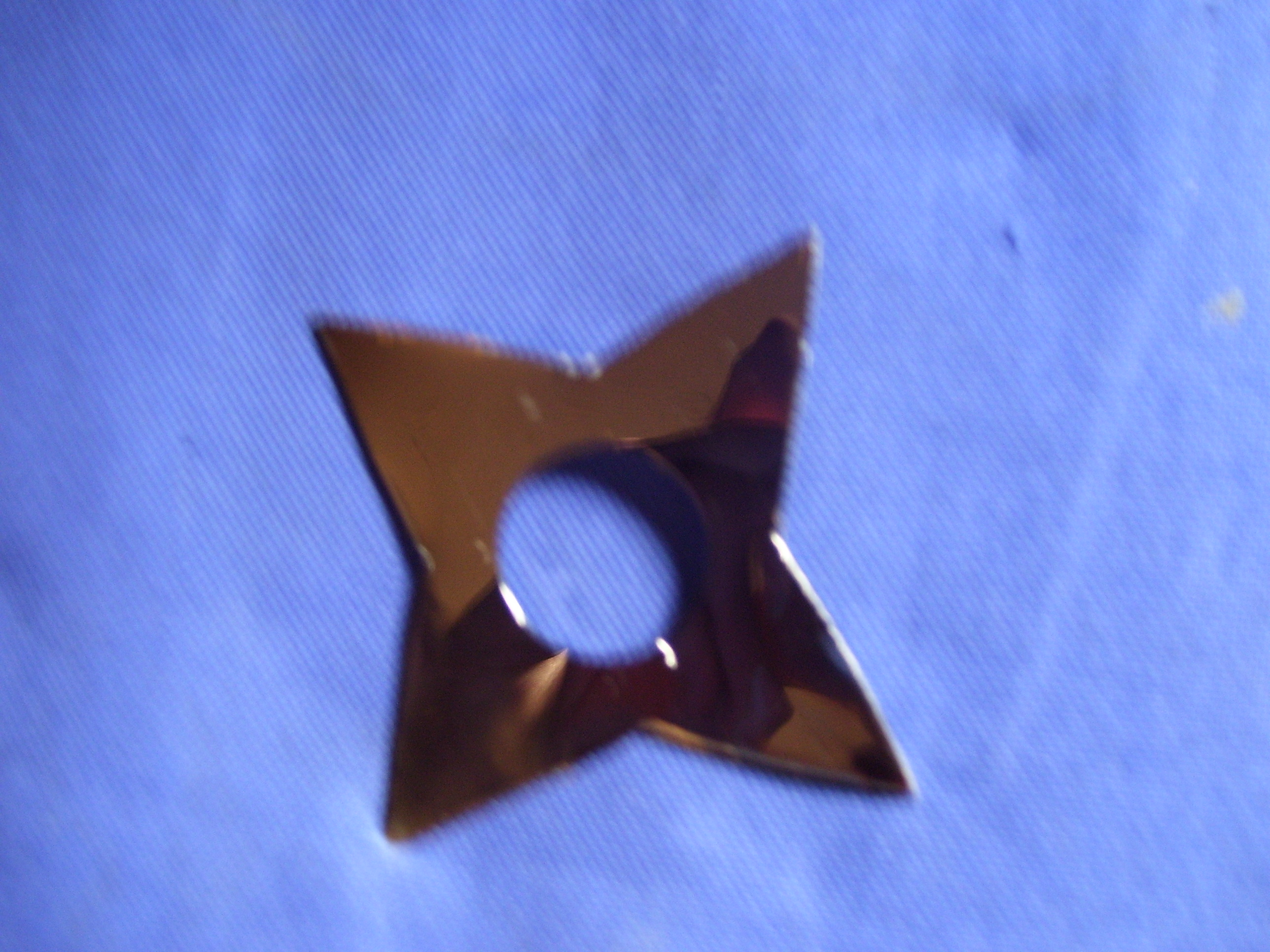 Hard Drive Platter Throwing Star