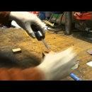 Making japanese style kitchen knife