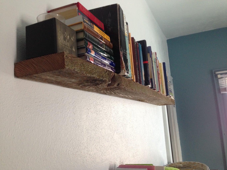 Super-Sturdy Floating Shelf From Barn Wood