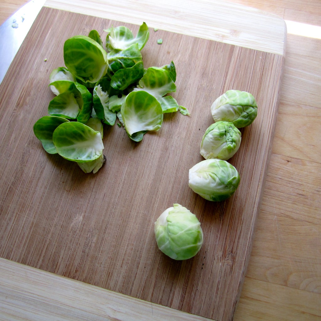 Prep the Brussels Sprouts