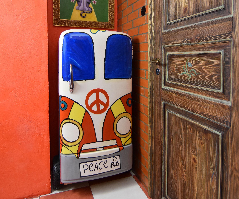 Camper-van Cabinet From Vintage Fridge
