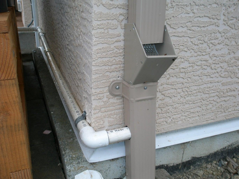 Downspout Drain Connection