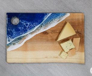 DIY Resin Ocean Serving Tray