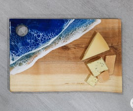 DIY Resin Ocean Serving Tray