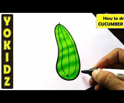 HOW TO DRAW CUCUMBER EASY