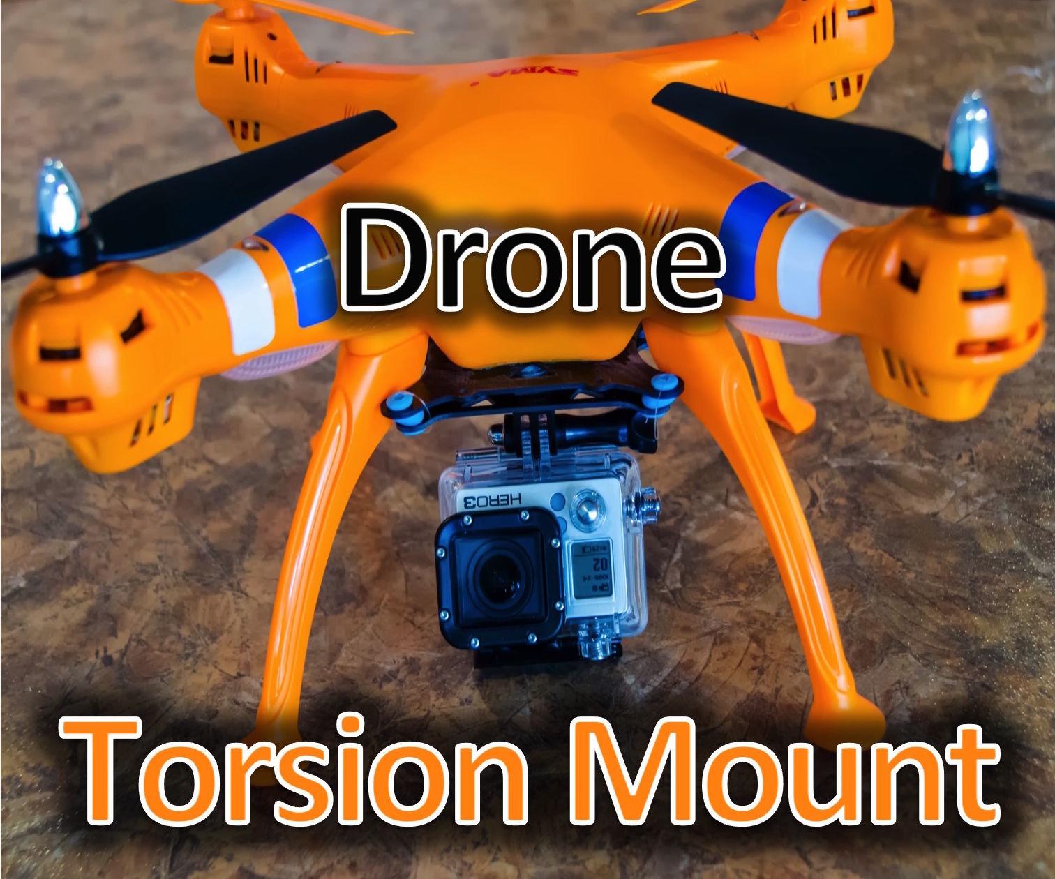 $5 Quadcopter Anti-Vibration, Torsion, Stabilizeation  Mount