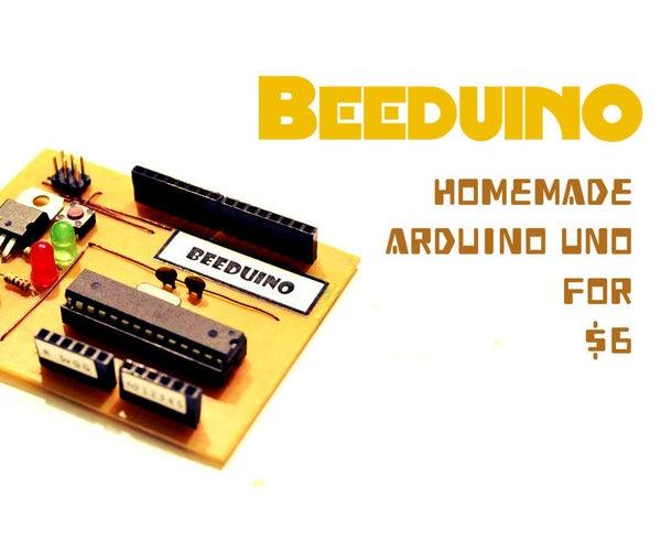 Beeduino : Homemade Arduino Uno for $6