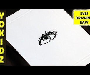 HOW TO DRAW AN EYE EASY
