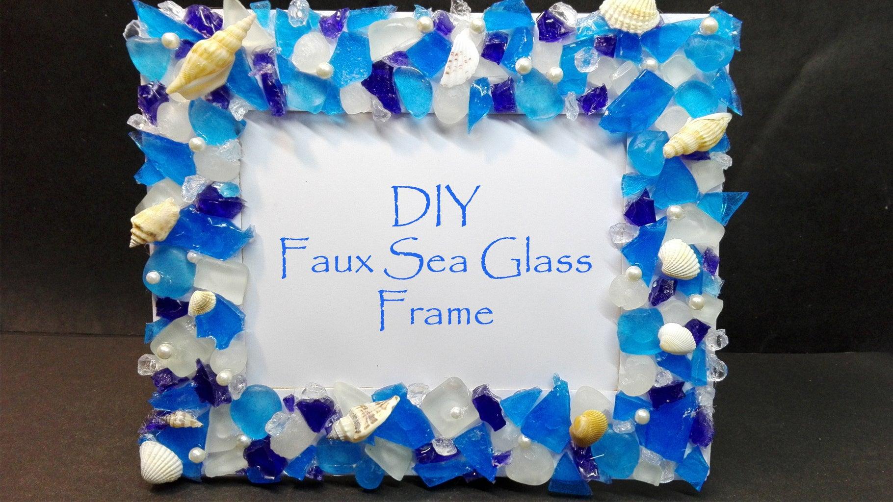 DIY Faux Sea Glass Frame