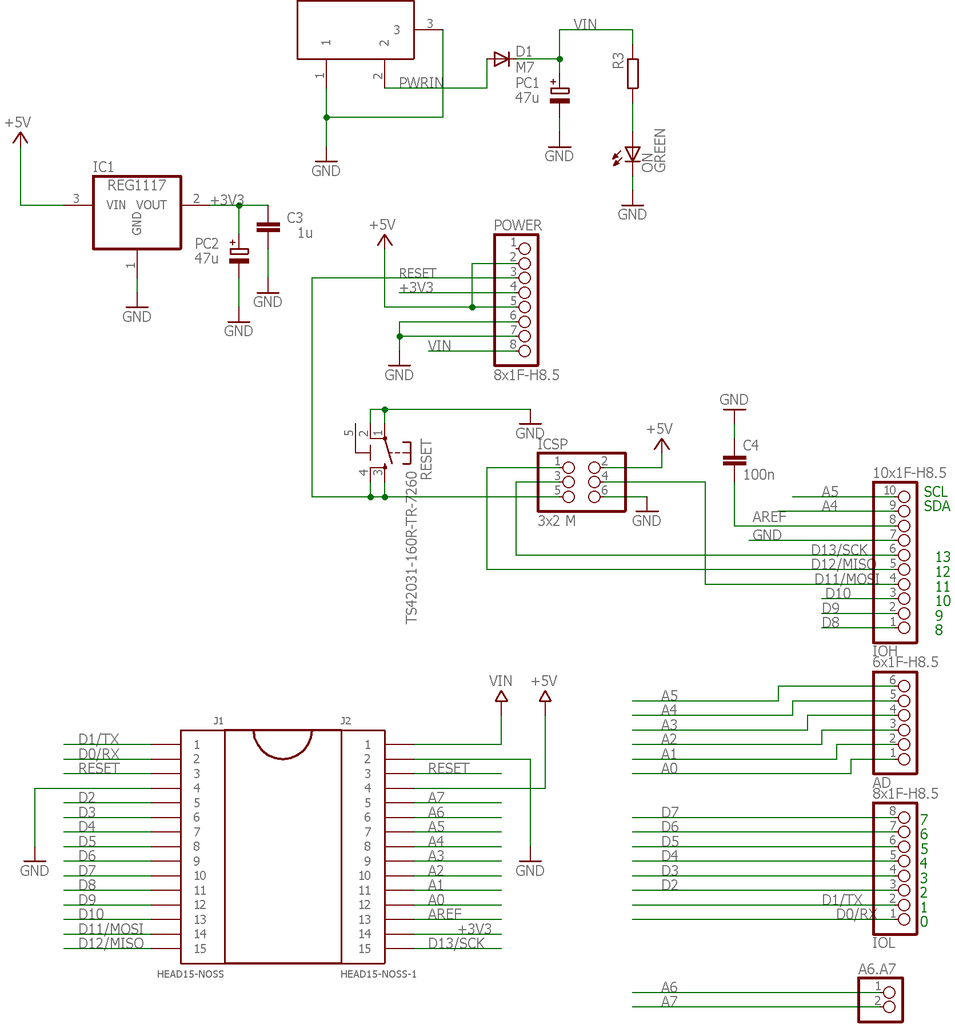 The Circuit of the Adapter Board