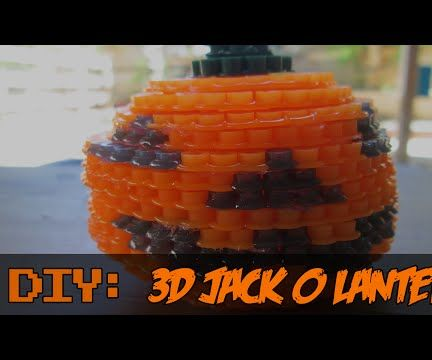 DIY: 3D Jack O Lantern | Bead Sprites (Perler/Hama Beads)