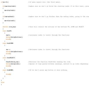 Preparing Our Code: Menus and Submenus
