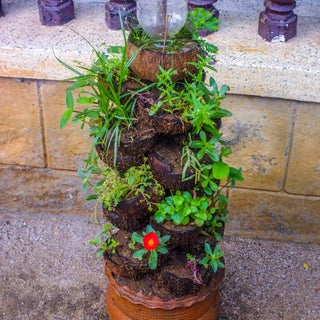 Coconut Shell Stackable Pot