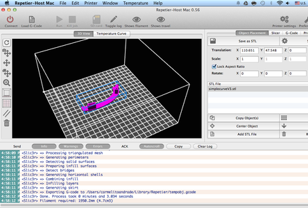 Basic Run : 3D Print the STL Files - Curves