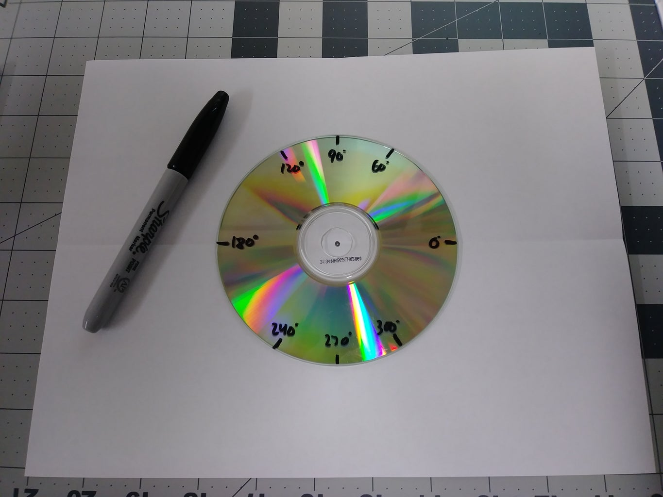 Labeling the Angle Measures on the CD (The Multiples of 30°)