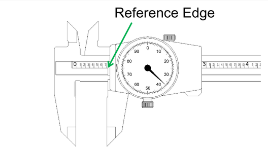 Identify the 6 Main Parts of the Dial Caliper.