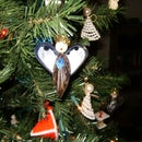 Mussel Angel Christmas Ornament