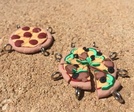 Clay Pizza Friendship Charms