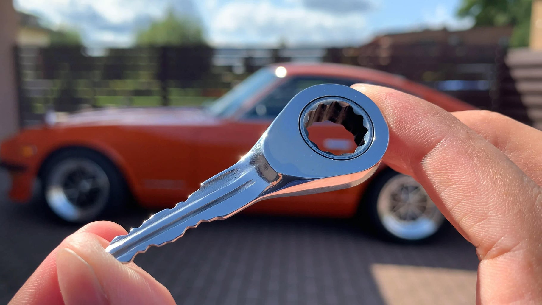 A Car Key Made From a Ratcheting Wrench