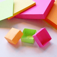 Post-It Origami Box