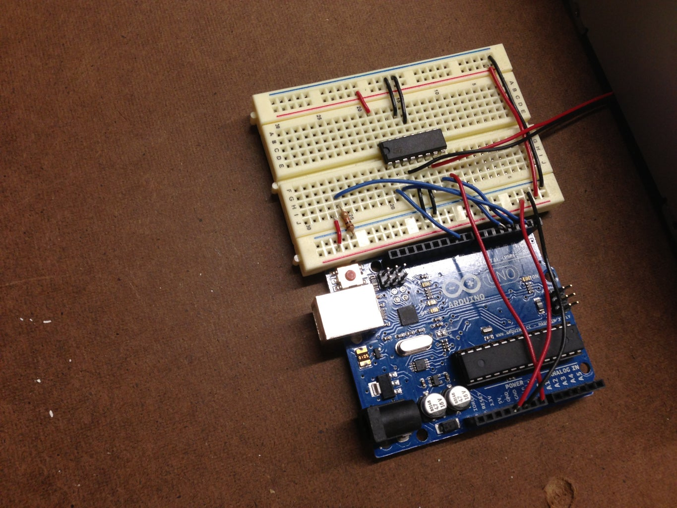 The H-Bridge Connected to the Arduino (No Toggle Switch)