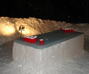 How to make an Ice/Snow Beirut Table
