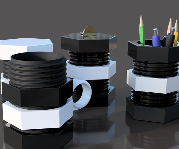 Bolt-Nut - Vario Cup - 3D Printed