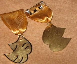 Ribbon Medal Shrinky-Dink Award