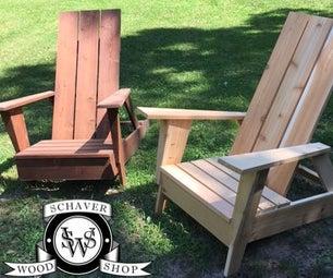 现代风格Adirondack椅子