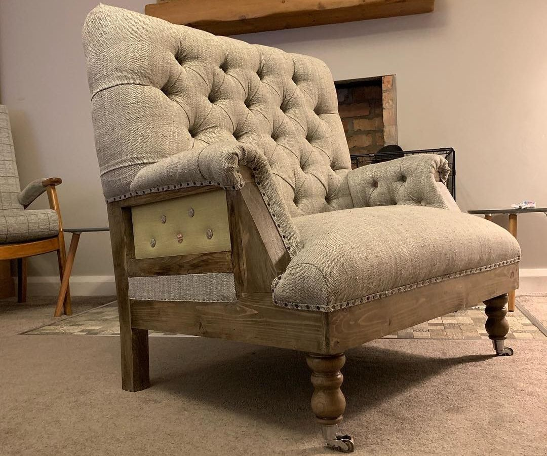 Handmade Chesterfield Love Seat
